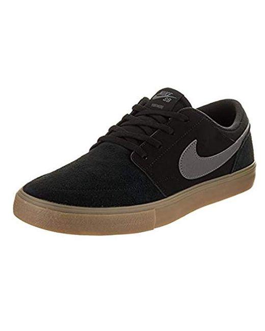 dobrze znany kody promocyjne niska cena Nike Sb Portmore Ii Solar Skateboarding Shoes in Black for ...