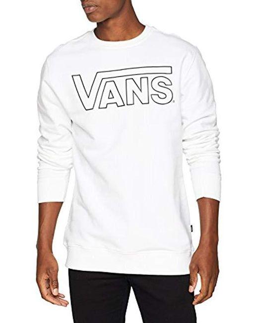 d3231cf893 Vans  s Classic Crew Sweatshirt in White for Men - Lyst