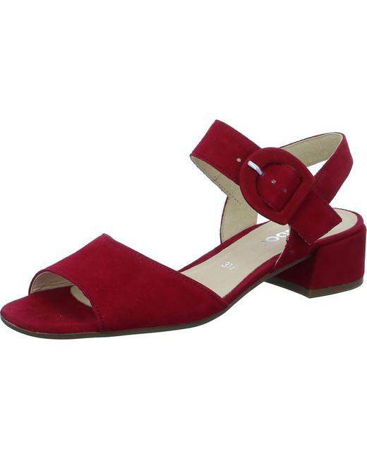 Gabor Red Sandalette Gr.