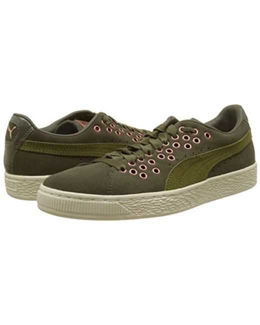 ea435689e2a607 ... PUMA - Green Suede Xl Lace Vr Trainers Black - Lyst ...