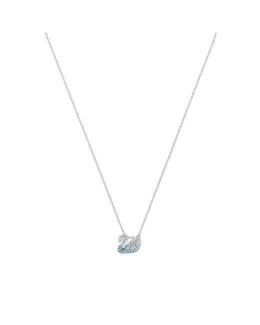 Swarovski Metallic Iconic Swan Collection Necklace