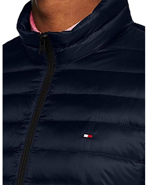 330863876 Tommy Hilfiger Core Lw Packable Down Bomber Jacket in Blue for Men ...