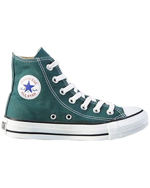 99379dc82a64 ... Lyst Converse - Green Unisex Adults  All Star Hi-top Trainers for Men  ...