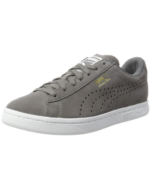 PUMA Gray Court Star Suede Sneaker