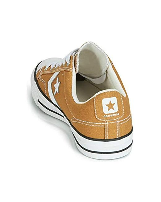 Converse Star Player Pending Canvas Ox Trainers Mustard Low