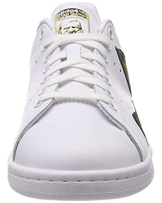 Women's adidas Stan Smith White Green Golden B28012 For Sale