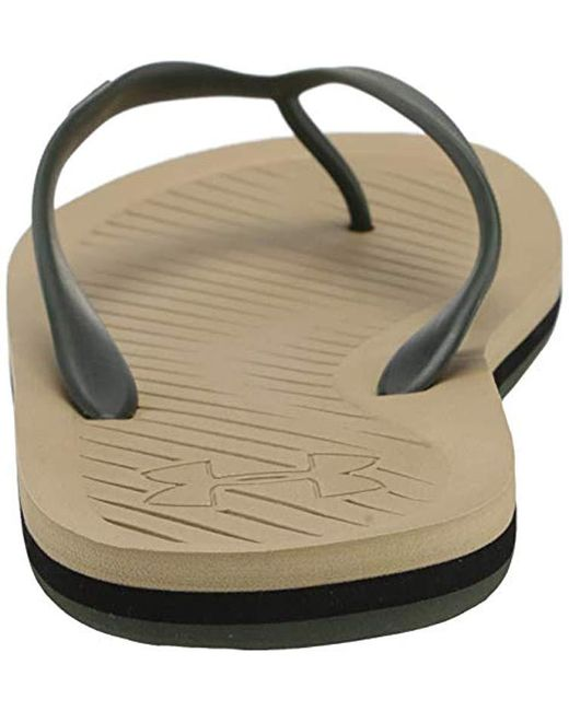 125ef330b Lyst - Under Armour Atlantic Dune Flip-flop in Black for Men - Save 29%