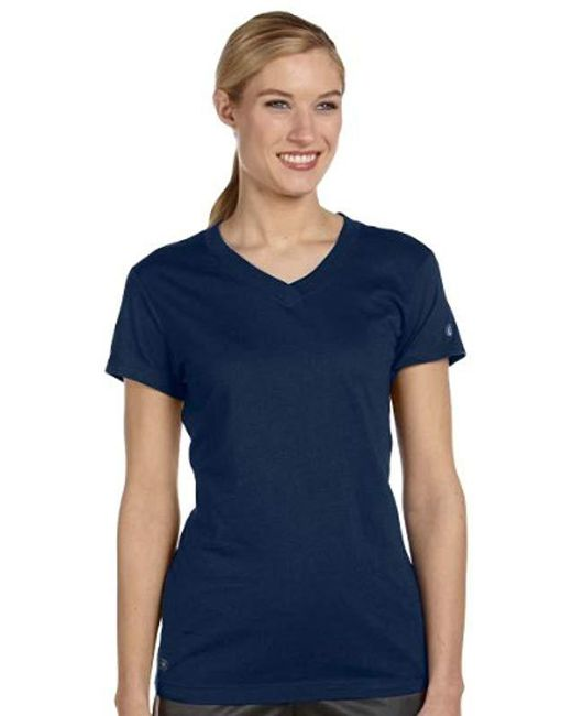 Russell Athletic Green Dri-power 360 V-neck Tee