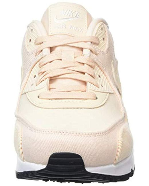 Women's Pink Wmns Air Max 90 Lea Trainers,