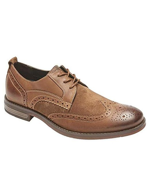 Rockport Brown Wynstin Wingtip Oxford for men