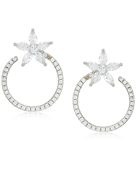 Nina - Jewelry Spring 2018 S E-salerno Earrings, Rhodium/white Cz - Lyst