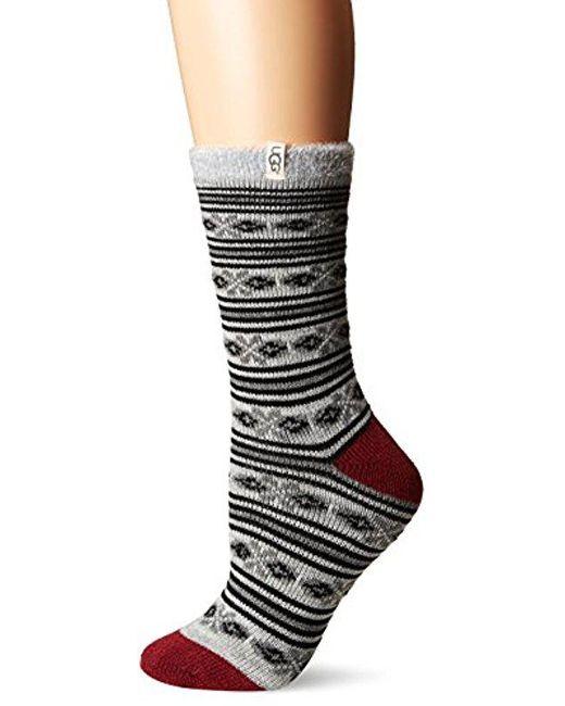 Ugg - Multicolor Fair Isle Fleec Lined Sock - Lyst