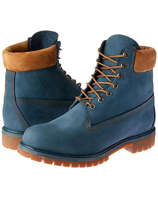 01a988aa78eec Timberland Leather 6 Inch Premium Waterproof Classic Boots in Blue ...