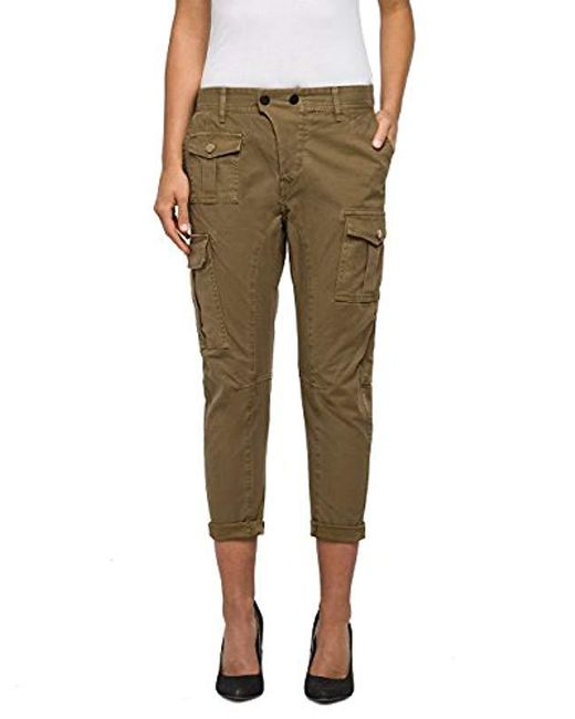 Replay - Brown Trousers - Lyst