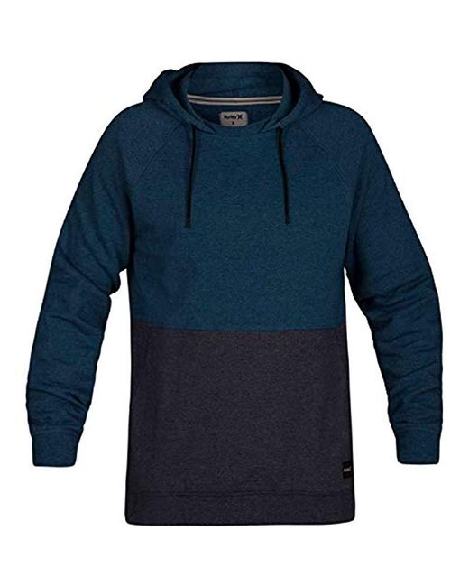 Hurley Blue Crone Marled Textured Pullover Hoodie for men