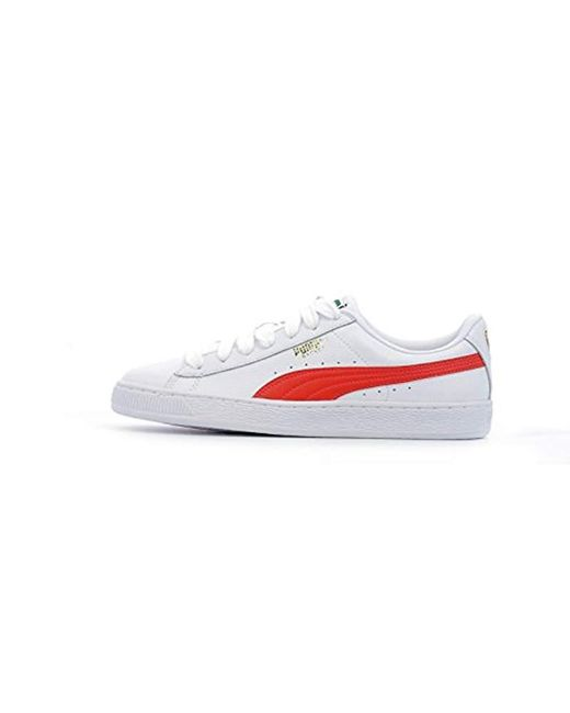 White Unisex Adults' Basket Classic Lfs Low top Trainers