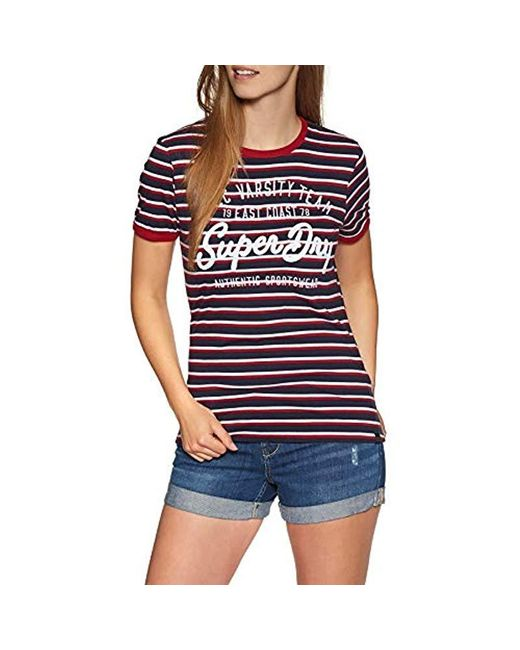 Superdry Blue Nyc Varsity S Short Sleeve T-shirt for men