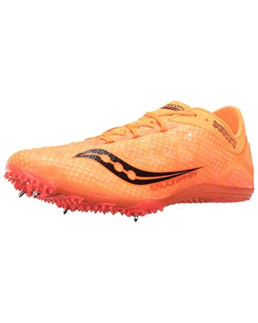 251aa0d5 Men's Orange Endorphin Track Spike Racing Shoe
