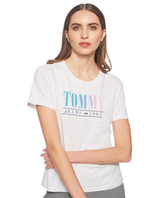 Tommy Hilfiger Gray Tjw Summer Multicolor Tommy Tee T-shirt