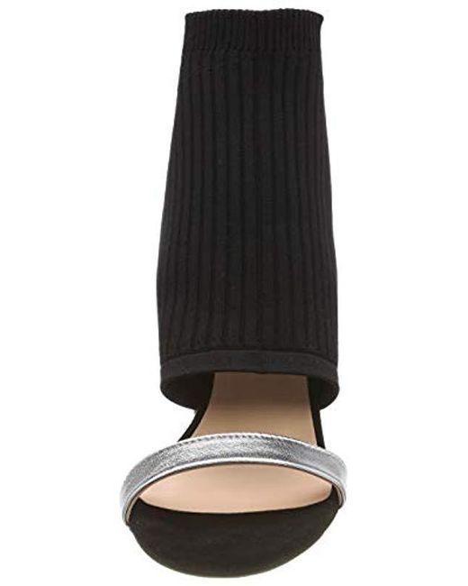 Sandales Bout Ouvert Femme de coloris noir