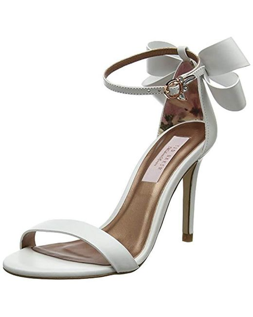 ed16a9c64 Ted Baker - White  s Ankle Strap Sandals - Lyst ...