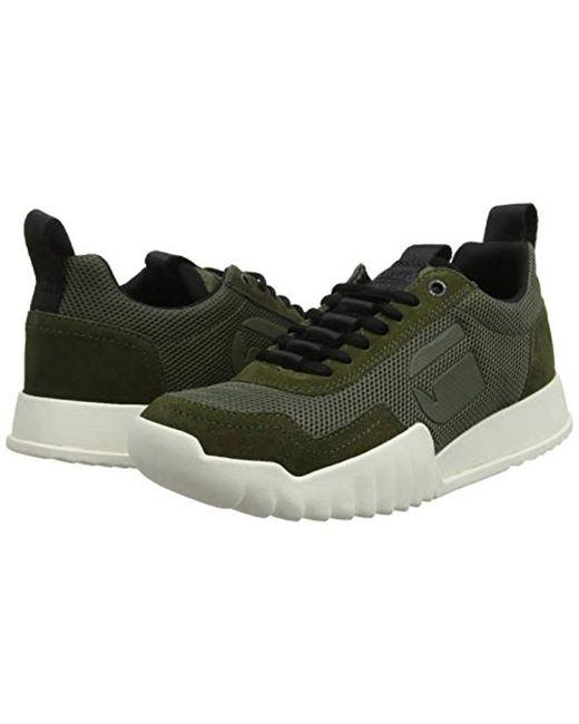 ... G-Star RAW - Green Rackam Rovic Low-top Sneakers for Men - Lyst ... 9b376cd5b74a0