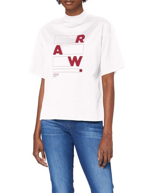 Raw Applique Graphic Carnn Mock Camiseta G-Star RAW de color White