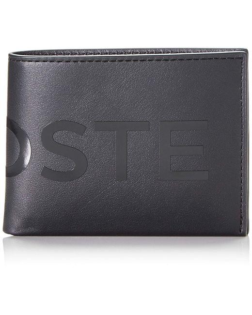NH2934IA L.12.Cuir Animation Sac et portefeuille Lacoste pour homme en coloris Black