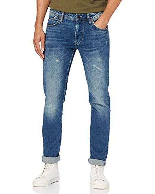 Pepe Jeans Blue Spike Straight Jeans for men