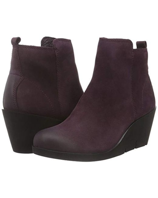 555a7675 Women's Purple Bella Wedge Ankle Boots
