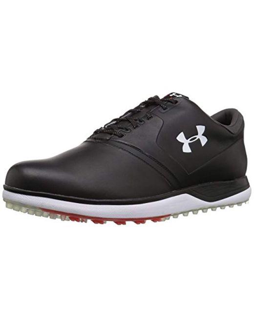 Under Armour Black Ua Performance Sl Leather Golf Shoes for men