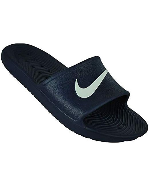 daddeb12b Nike Kawa Shower Beach   Pool Shoes in Blue for Men - Lyst