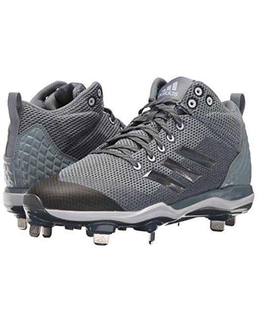 Lyst adidas originali mostro x carbonio metà baseball scarpa in grigio per gli uomini.