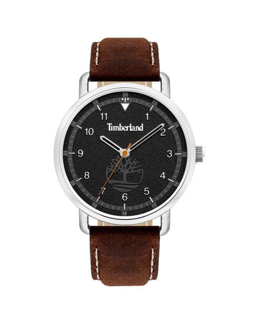 Timberland Brown S Analogue Quartz Watch Tbl15939js.02as for men