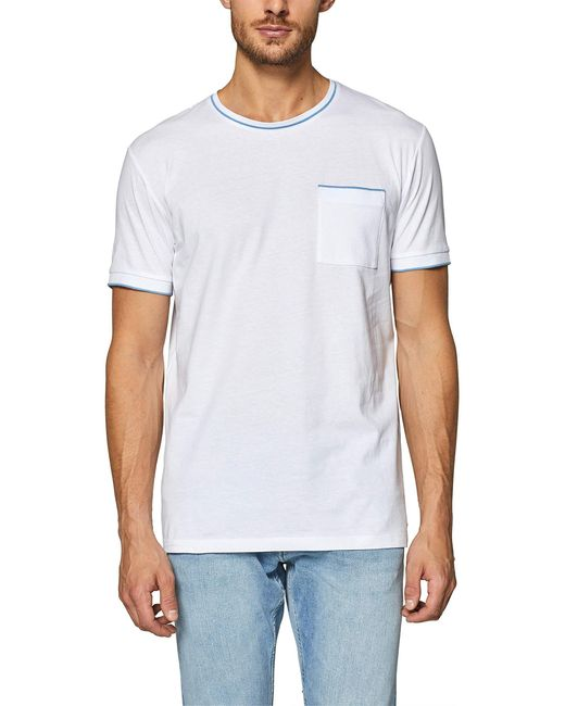 128ee2k004 Camiseta Esprit de hombre de color White