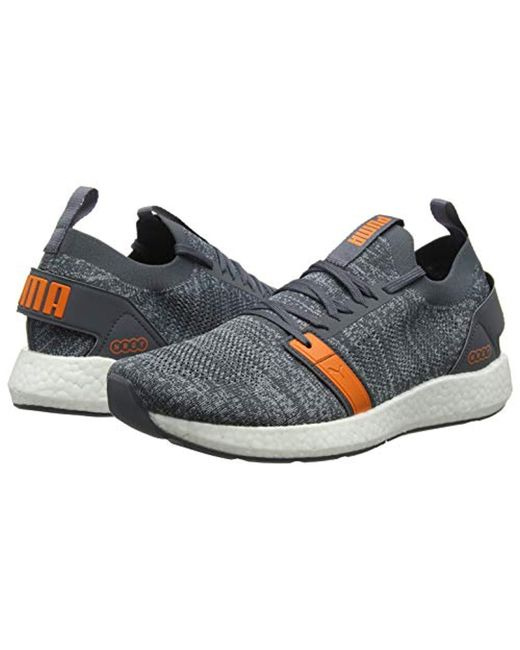 ... PUMA - Gray Nrgy Neko Engineer Knit Competition Running Shoes a3ecf34f2