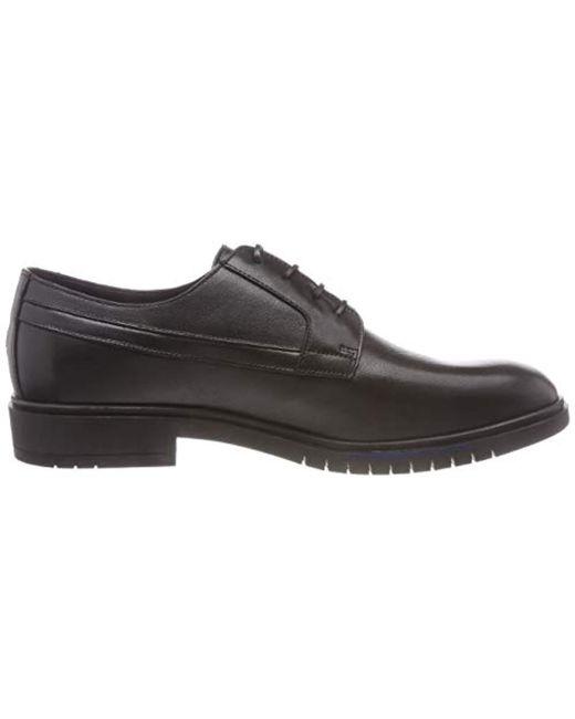 Tommy Hilfiger Flexible Dressy Leather Shoe Derbys in Black