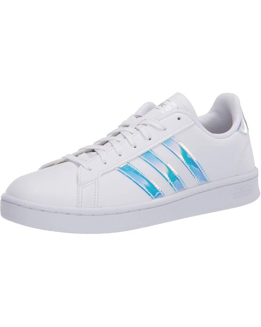 Adidas Metallic Womens Grand Court Tennis Shoe