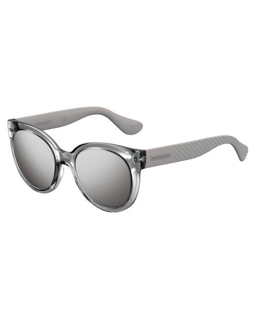 Havaianas Metallic Noronha Sunglasses, Silver, 52