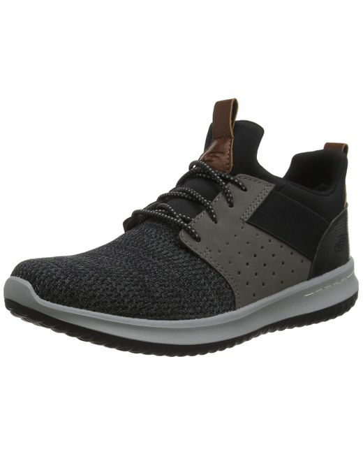 Skechers Black Men's Delson - Camben Casual Walking Sneakers From Finish Line for men