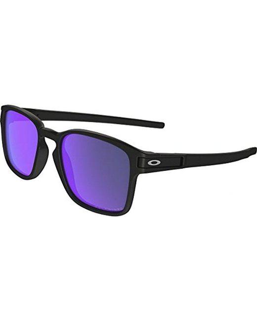 Oakley - Black Latch Square Sunglasses for Men - Lyst