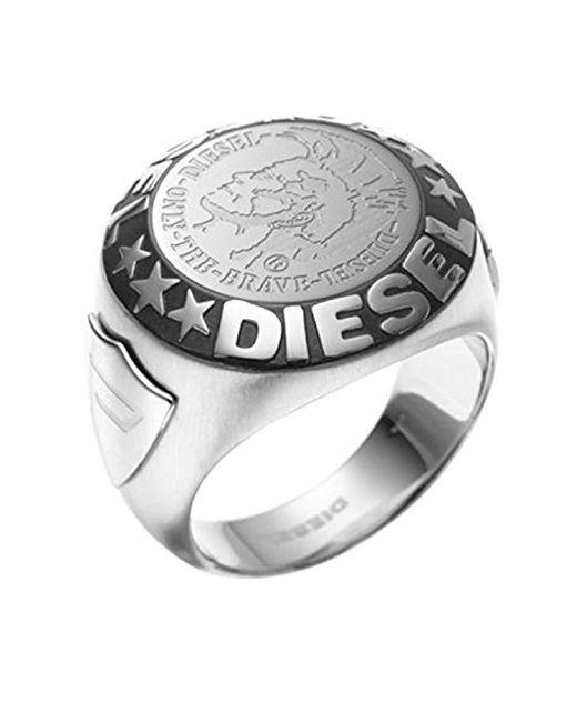 DIESEL Ring DX0182040 in Metallic für Herren