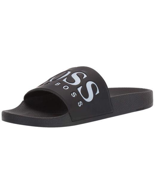 Hugo Boss Mens Solar Slide Sandal Slide Sandal