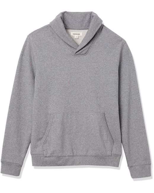 Lightweight French Terry Shawl Collar Pullover Sweatshirt Sweat-Shirt Goodthreads pour homme en coloris Gray