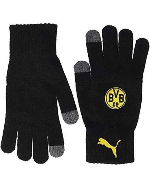 BVB Gants en Tricot PUMA pour homme en coloris Black