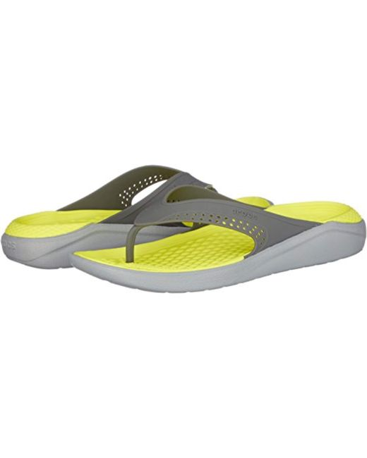 f7673516dc04 Crocs™ Unisex Adults  Literide Flip Flat Sandal in Gray for Men - Lyst