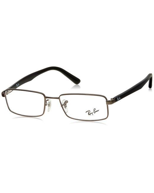 RX6268I-2502-51 Monturas de gafas Ray-Ban de hombre de color Metallic