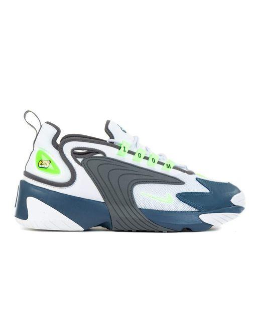 Nike White/Ghost Green-Iron in Blue für Herren