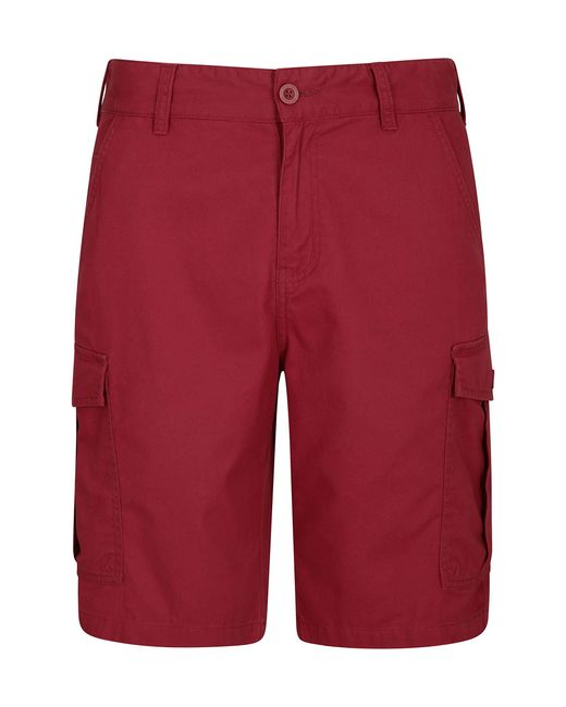 Shorts durevoli del carico del Cotone della saia di di Mountain Warehouse in Red da Uomo