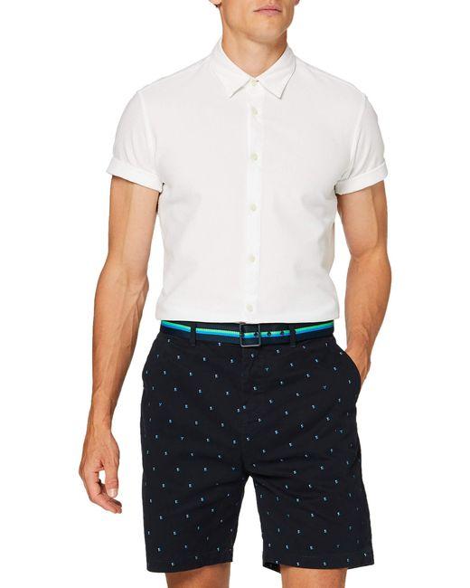 Structured Chino Short with Mini all-Over Print Pantaloncini di Scotch & Soda in Blue da Uomo